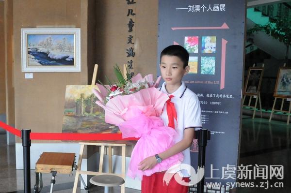 实验小学为毕业班学生举办个人画展