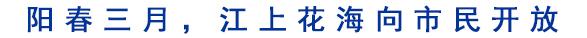 阳春三月,江上花海向市民开放